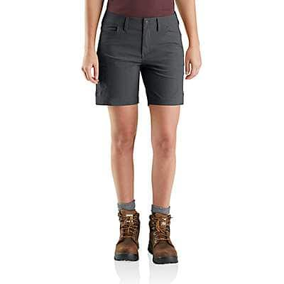 Carhartt Women's Dark Khaki Straight Fit Carhartt Force Madden Cargo Short - front