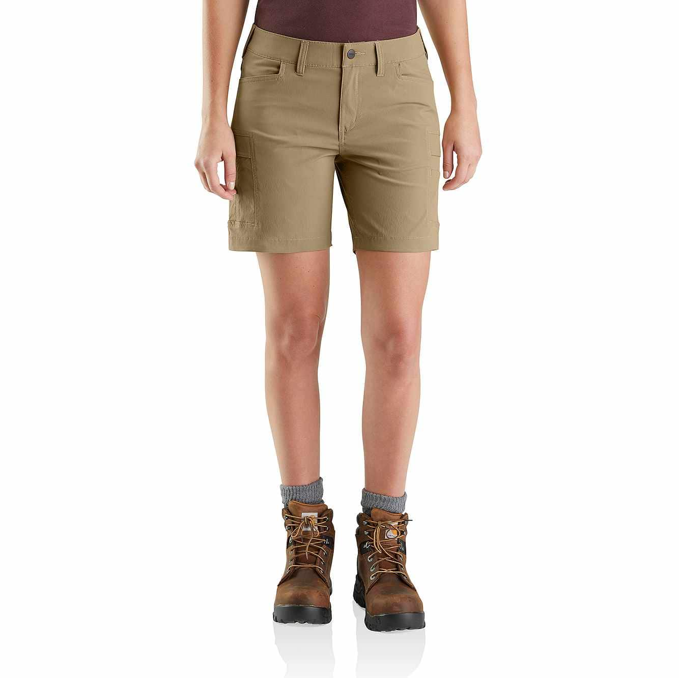 Picture of Straight Fit Carhartt Force Madden Cargo Short in Dark Khaki