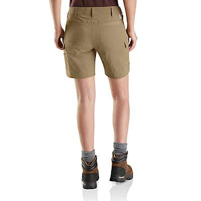 Carhartt Women's Dark Khaki Straight Fit Carhartt Force Madden Cargo Short - back