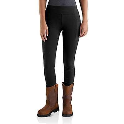 Carhartt Women's Black Carhartt Force Lightweight Utility Legging - front