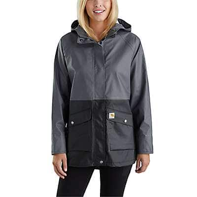 Carhartt Women's Black Waterproof Rainstorm Coat - front