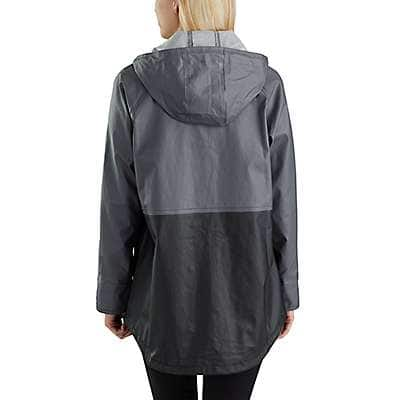 Carhartt Women's Black Waterproof Rainstorm Coat - back