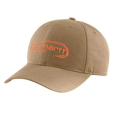 Carhartt Men's Dark Khaki Force Extremes® Fish Hook Logo Cap - front