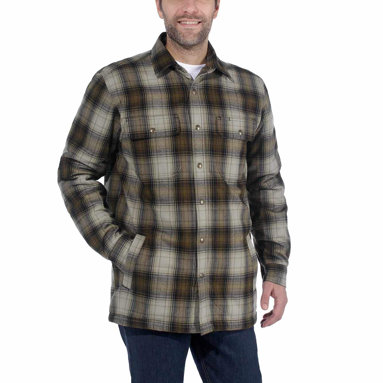 special sales order online detailed images Hubbard Sherpa-Lined Plaid Flannel Shirt Jac