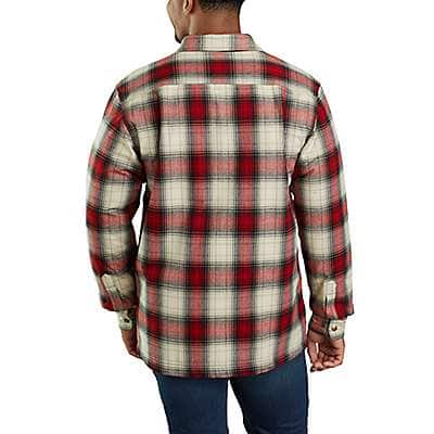 Carhartt Men's Twilight Hubbard Sherpa-Lined Plaid Flannel Shirt Jac - back