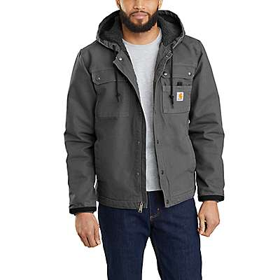 Carhartt Men's Gravel Relaxed Fit Washed Duck Sherpa-Lined Utility Jacket