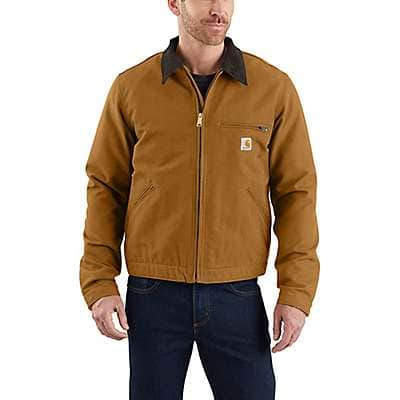 CARHARTT MENS DUCK COAT ARCTIC QUILT LINED BUTTON JACKET H20 REPELLANT