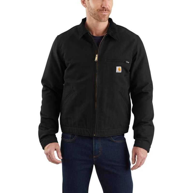 Carhartt  Black Relaxed Fit Duck Blanket-Lined Detroit Jacket