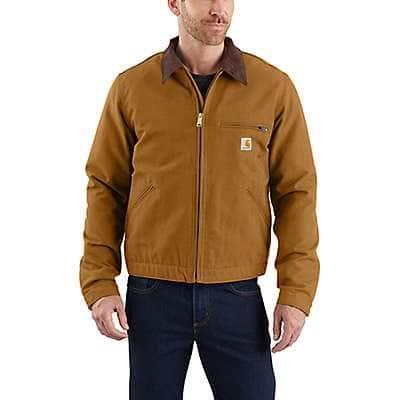 Carhartt Men's Carhartt Brown Relaxed Fit Duck Blanket-Lined Detroit Jacket