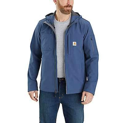 Carhartt Men's Dark Blue Rain Defender® Relaxed Fit Midweight Softshell Hooded Jacket