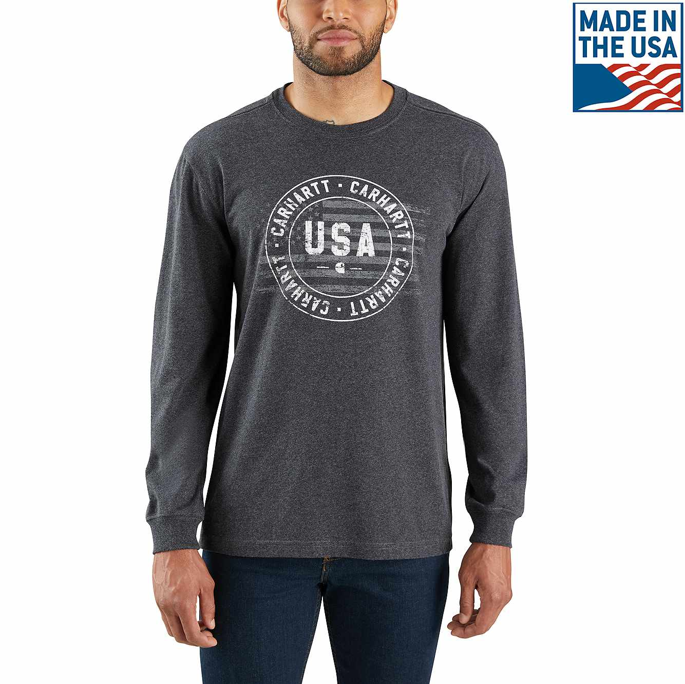 outlet boutique undefeated x where to buy Lubbock Carhartt USA Graphic Long-Sleeve T-Shirt