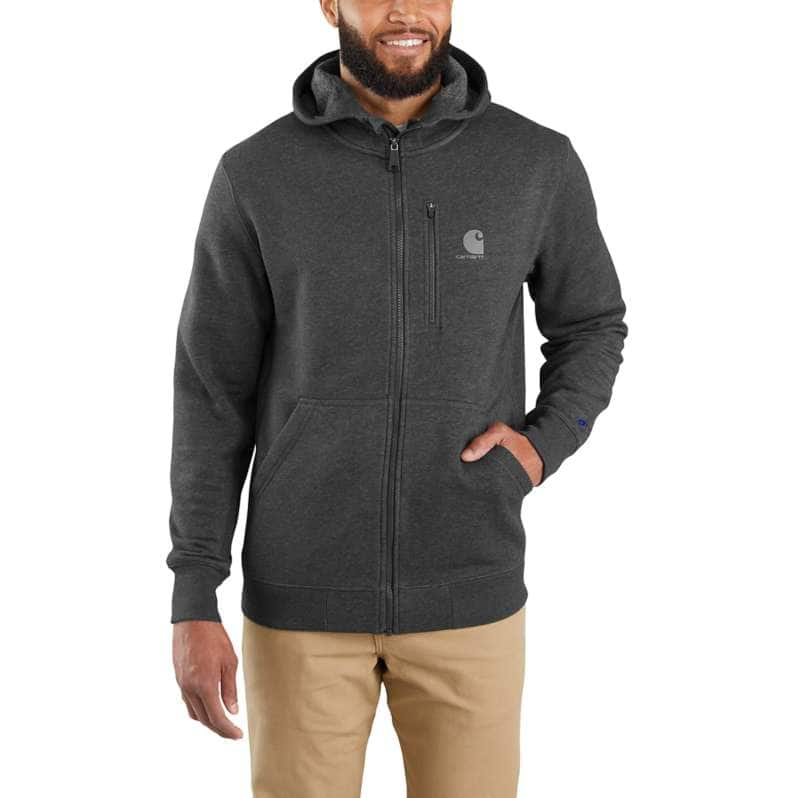 Carhartt  Black Heather Force Relaxed Fit Midweight Full-Zip Sweatshirt