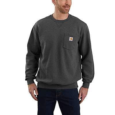 Carhartt Men's Carbon Heather Loose Fit Midweight Crewneck Pocket Sweatshirt