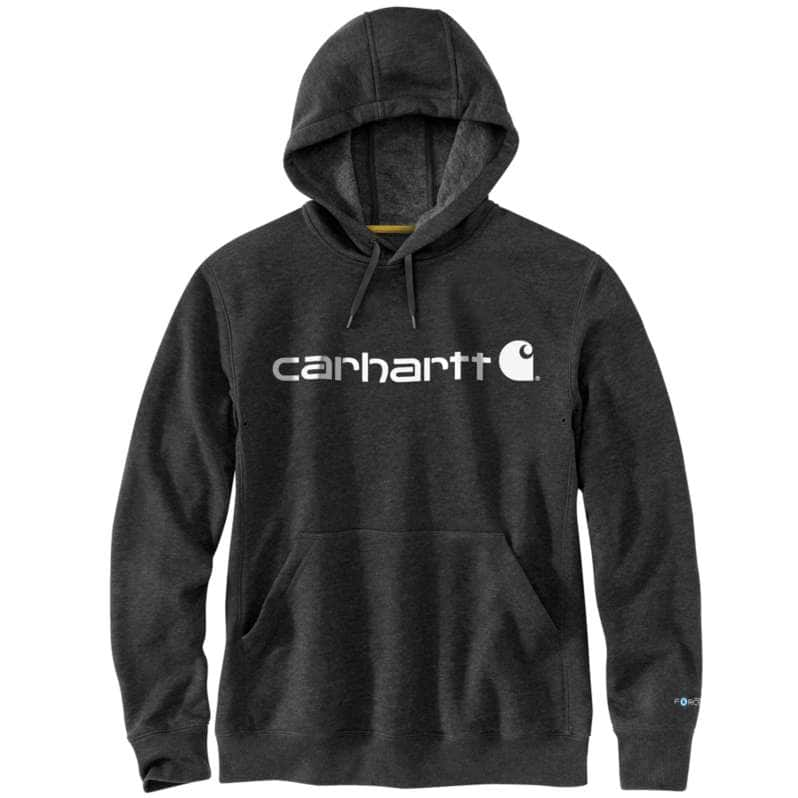 Carhartt  Black Heather Force Relaxed Fit Midweight Logo Graphic Sweatshirt