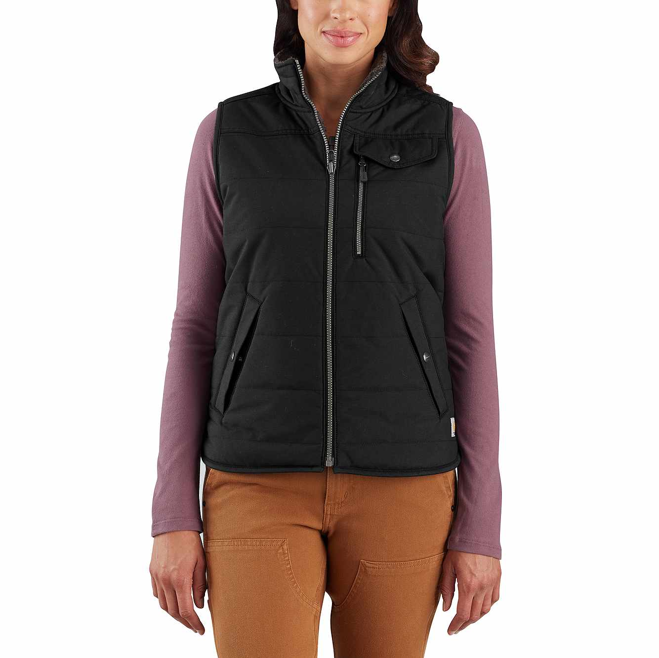 Picture of Utility Sherpa-Lined Vest in Black