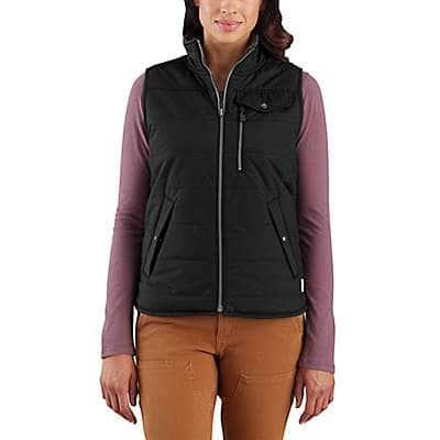 Carhartt Women's Black Utility Sherpa-Lined Vest