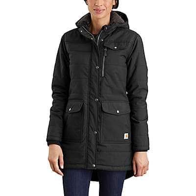 Carhartt Women's Black OC3908 W RlxdFit MW Coat