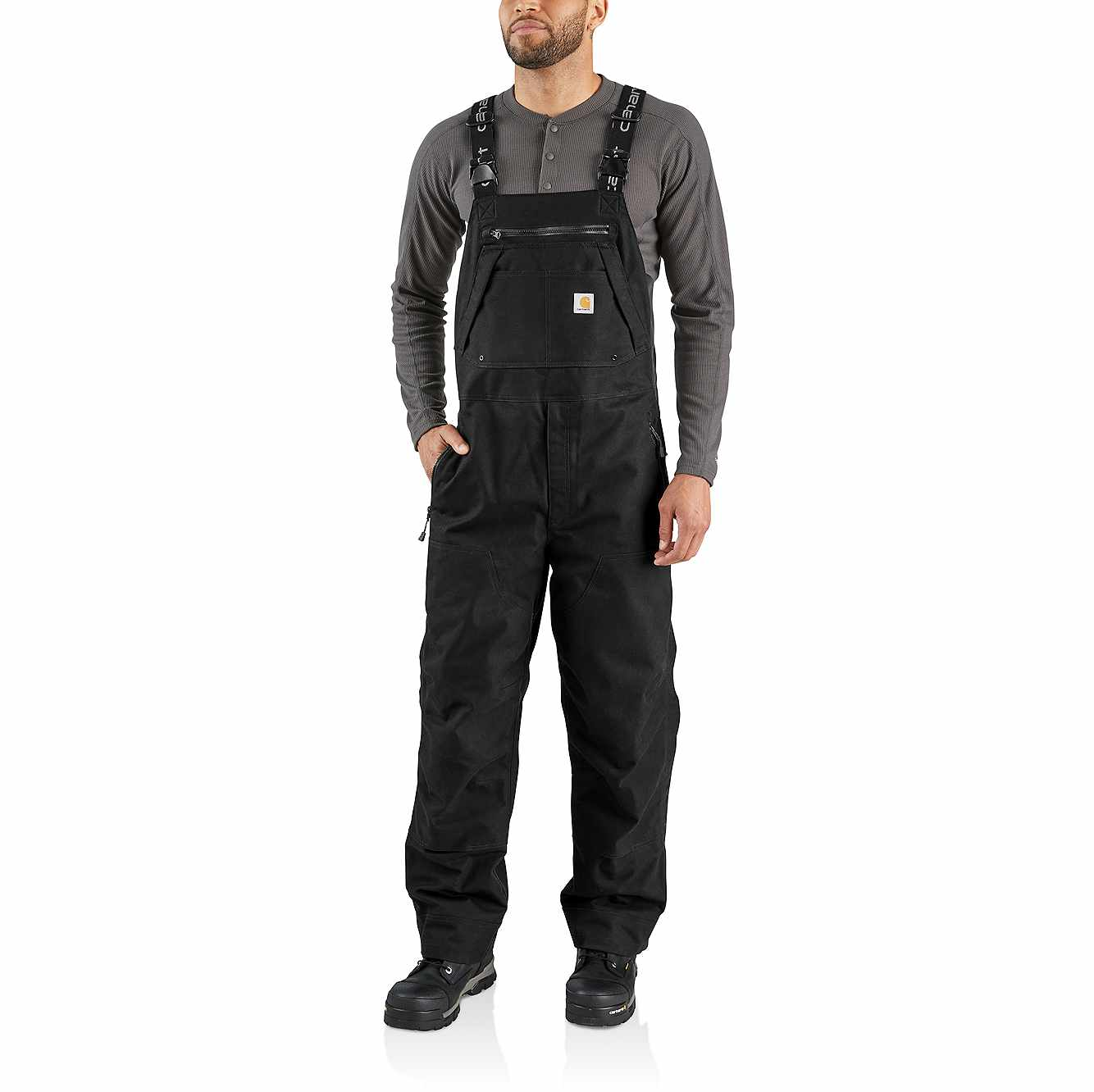 Picture of Quick Duck Sawtooth Bib Overall in Black