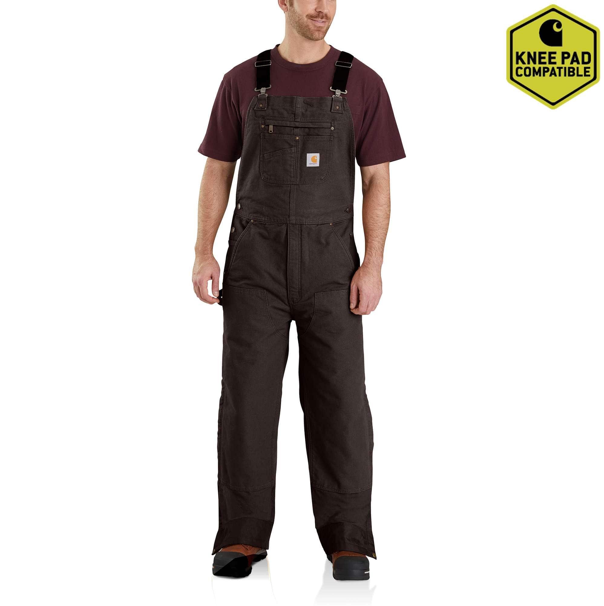 Carhartt Big Boys Washed Duck Bib Pocket Pant