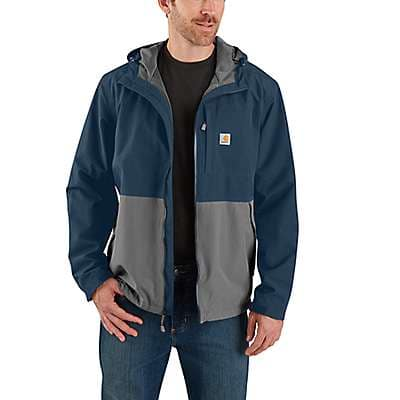 Carhartt Men's Deep Sea/Steel Storm Defender® Loose Fit Midweight Utility Jacket