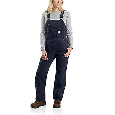 Carhartt Women's Navy Relaxed Fit Washed Duck Insulated Bib Overall