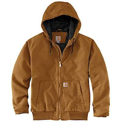 Loose Fit Washed Duck Insulated Active Jac