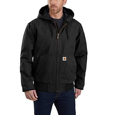 Carhartt Men's Black Loose Fit Washed Duck Insulated Active Jac