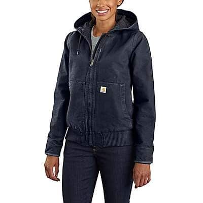 Carhartt Women's Navy Women's Loose Fit Washed Duck Insulated Active Jac