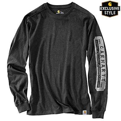 Carhartt Men's Carbon Heather Maddock Carhartt Heritage Long-Sleeve T-Shirt - front