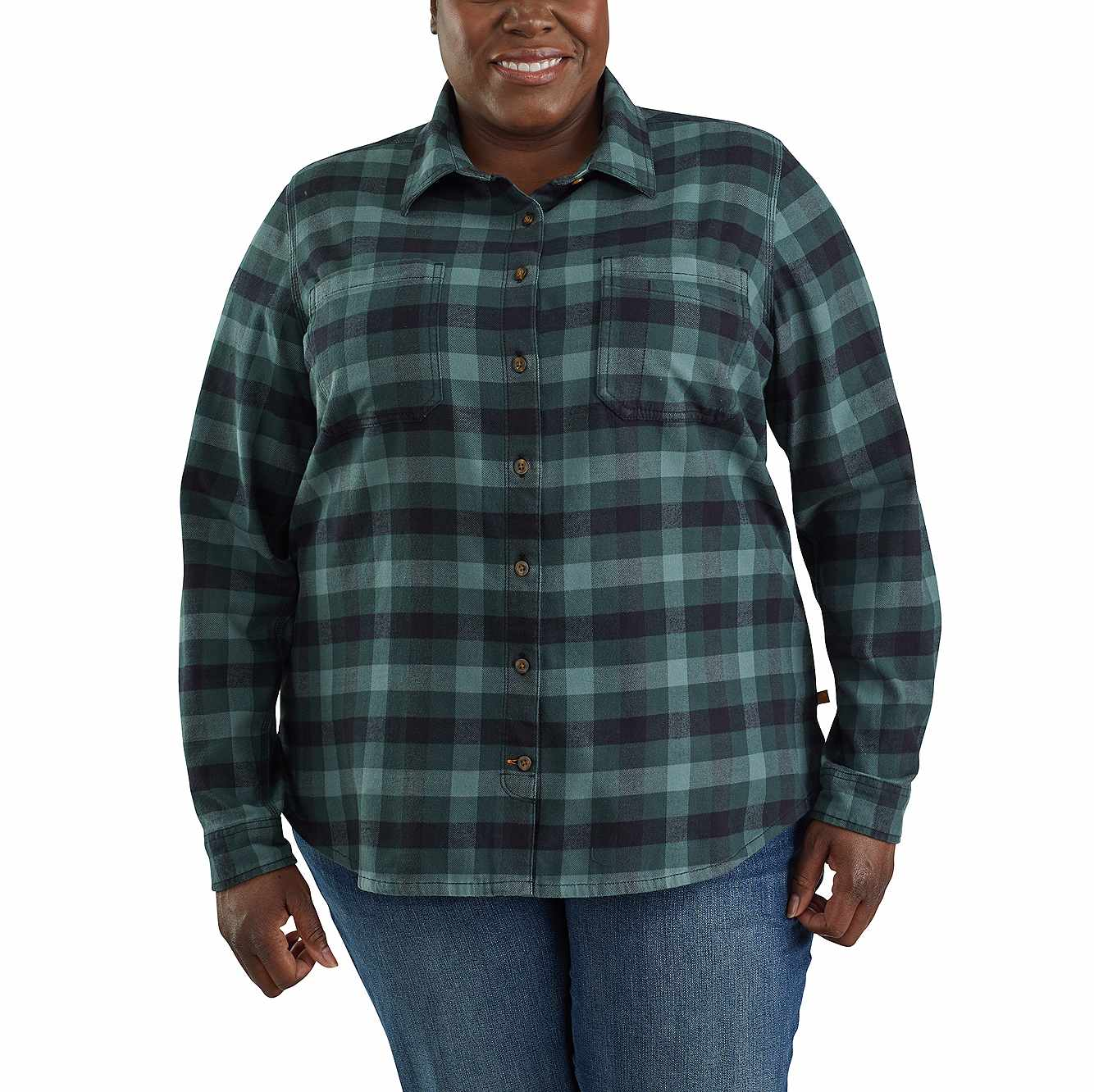 Picture of Rugged Flex® Hamilton Flannel Shirt in Balsam Green