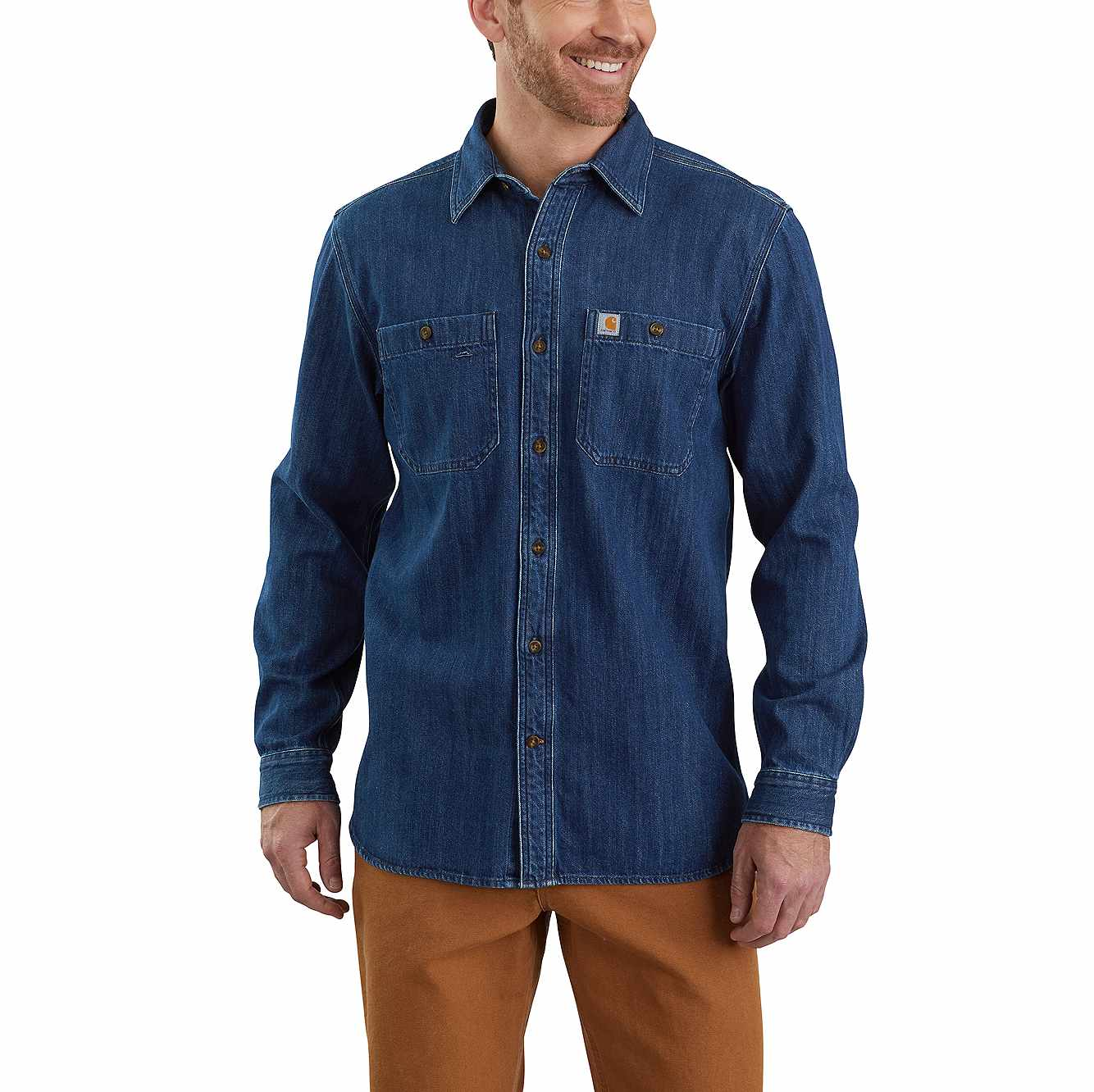 Picture of Denim Long-Sleeve Shirt in Levee