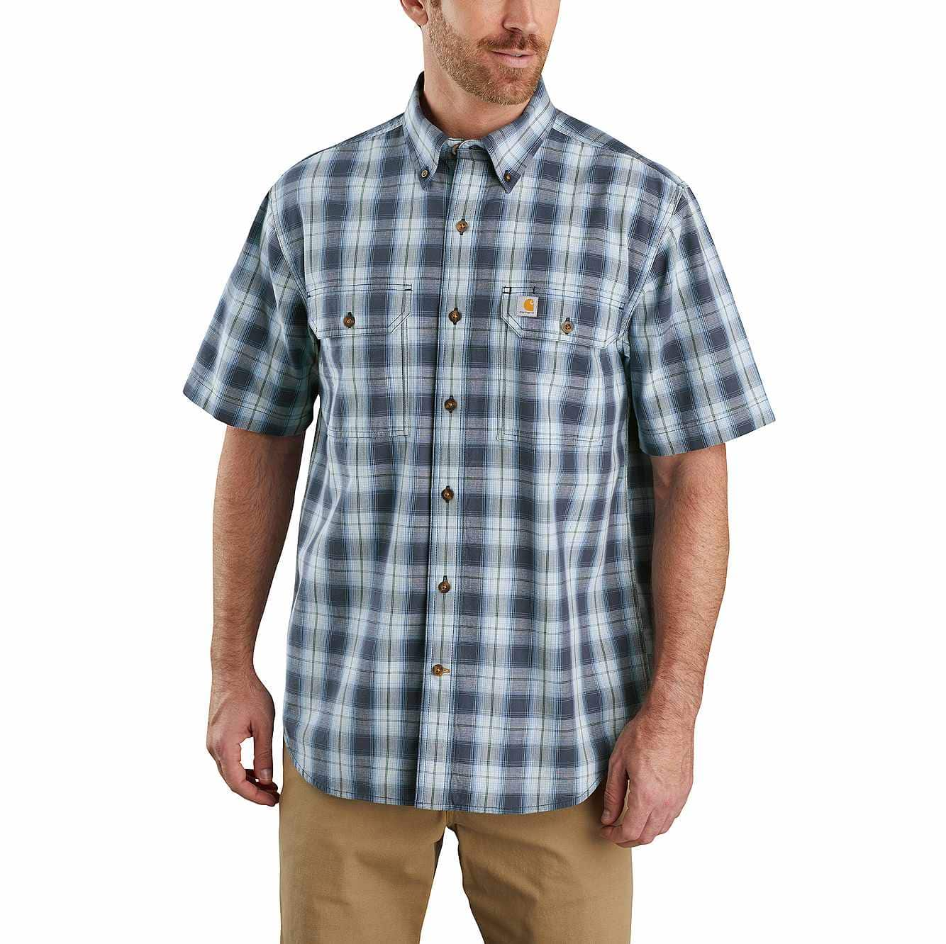 Original Fit Midweight Short-Sleeve Button-Front Plaid Shirt