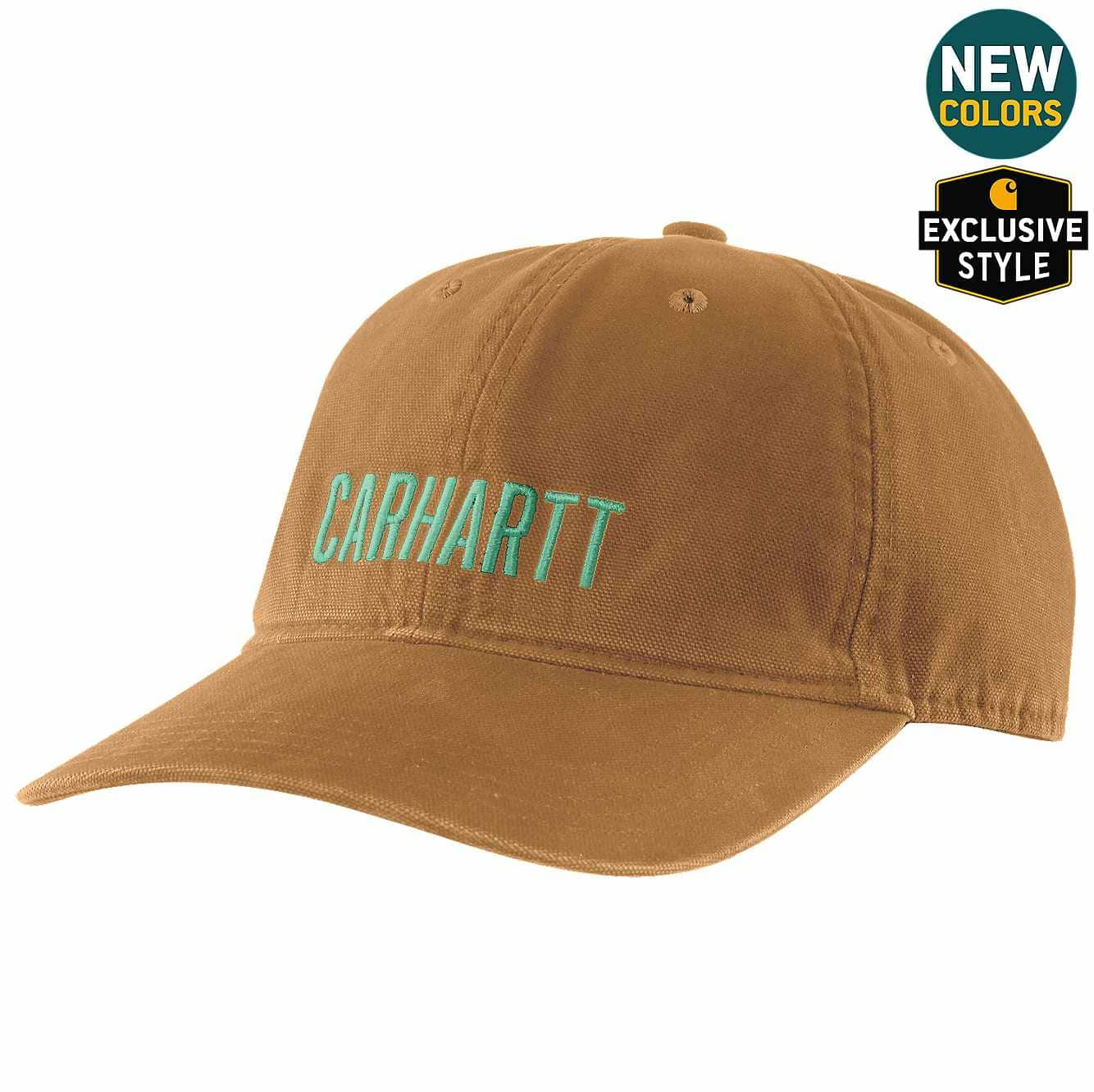 Picture of Canvas Full Back Carhartt Graphic Ball Cap in Carhartt Brown