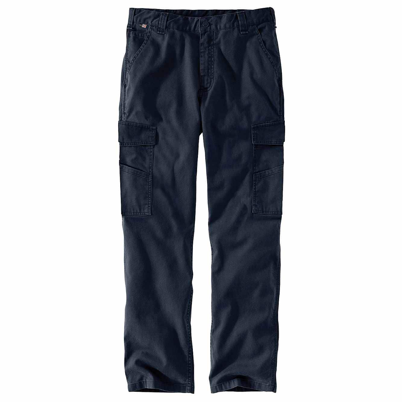 Picture of Flame-Resistant Rugged Flex® Relaxed Fit Rigby Cargo Pant in Navy