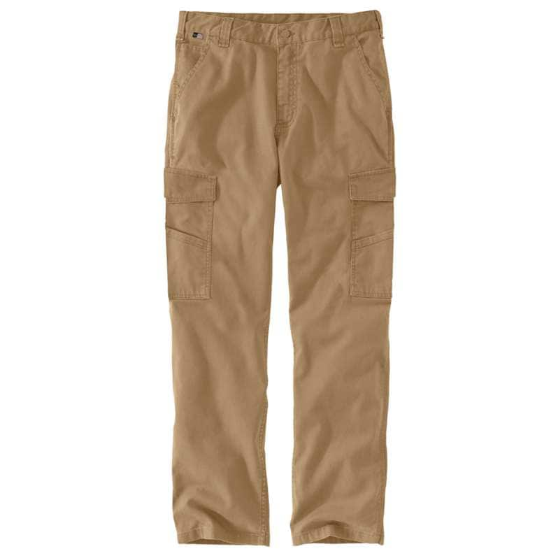 Carhartt  Dark Khaki Flame Resistant Rugged Flex® Relaxed Fit Canvas Cargo Pant