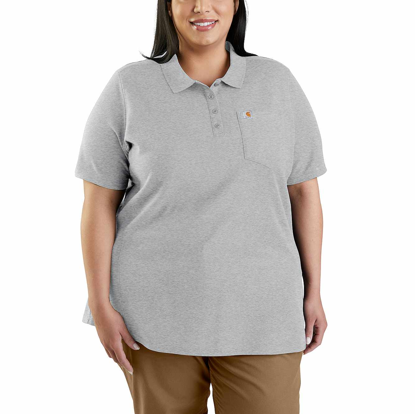 Picture of CONTRACTOR'S WORK POCKET® POLO in Heather Gray