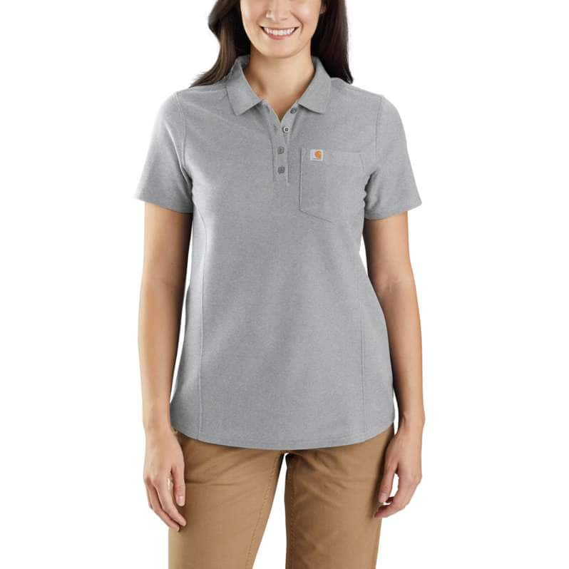 Carhartt  Heather Gray Relaxed Fit Midweight Short-Sleeve Pocket Polo
