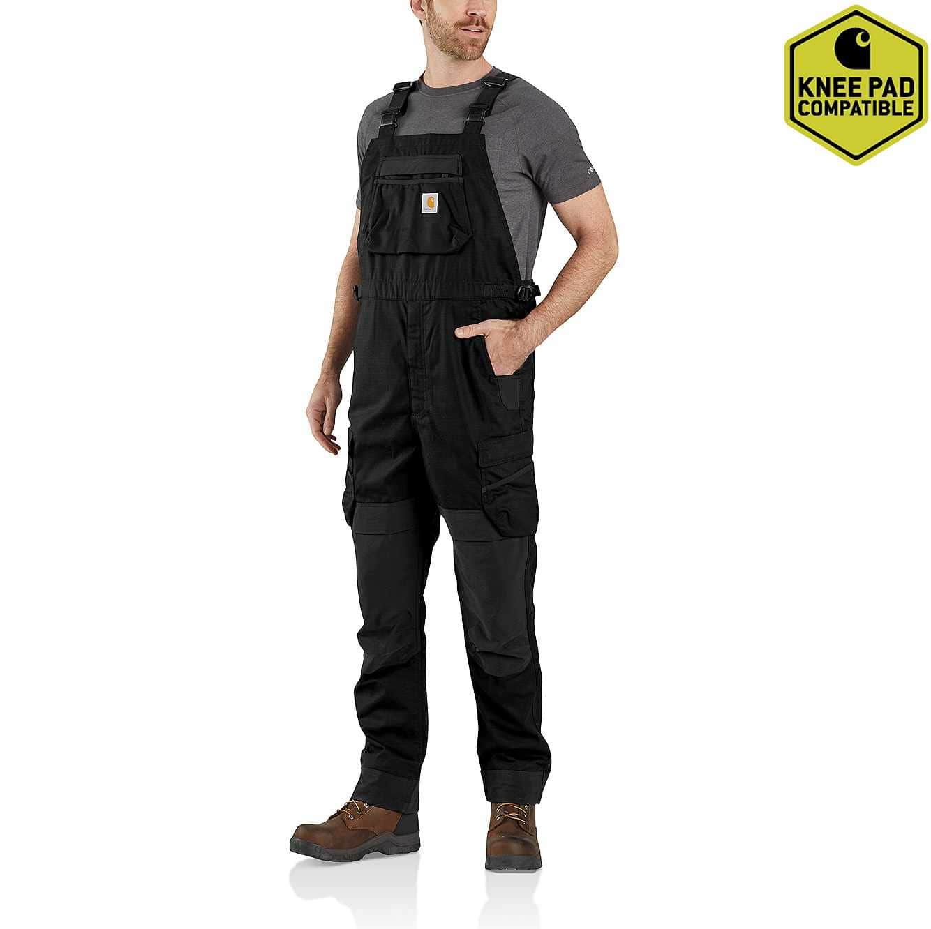 Picture of Steel Rugged Flex® Ripstop Bib Overall in Black
