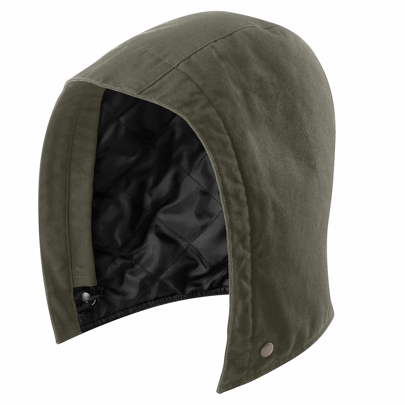 Picture of Quilted-Nylon Lined Hood in Moss