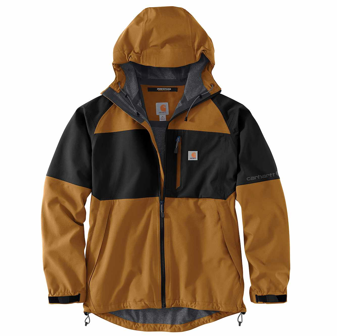 Picture of Storm Defender® Carhartt Force® Hooded Jacket in Black/Carhartt Brown