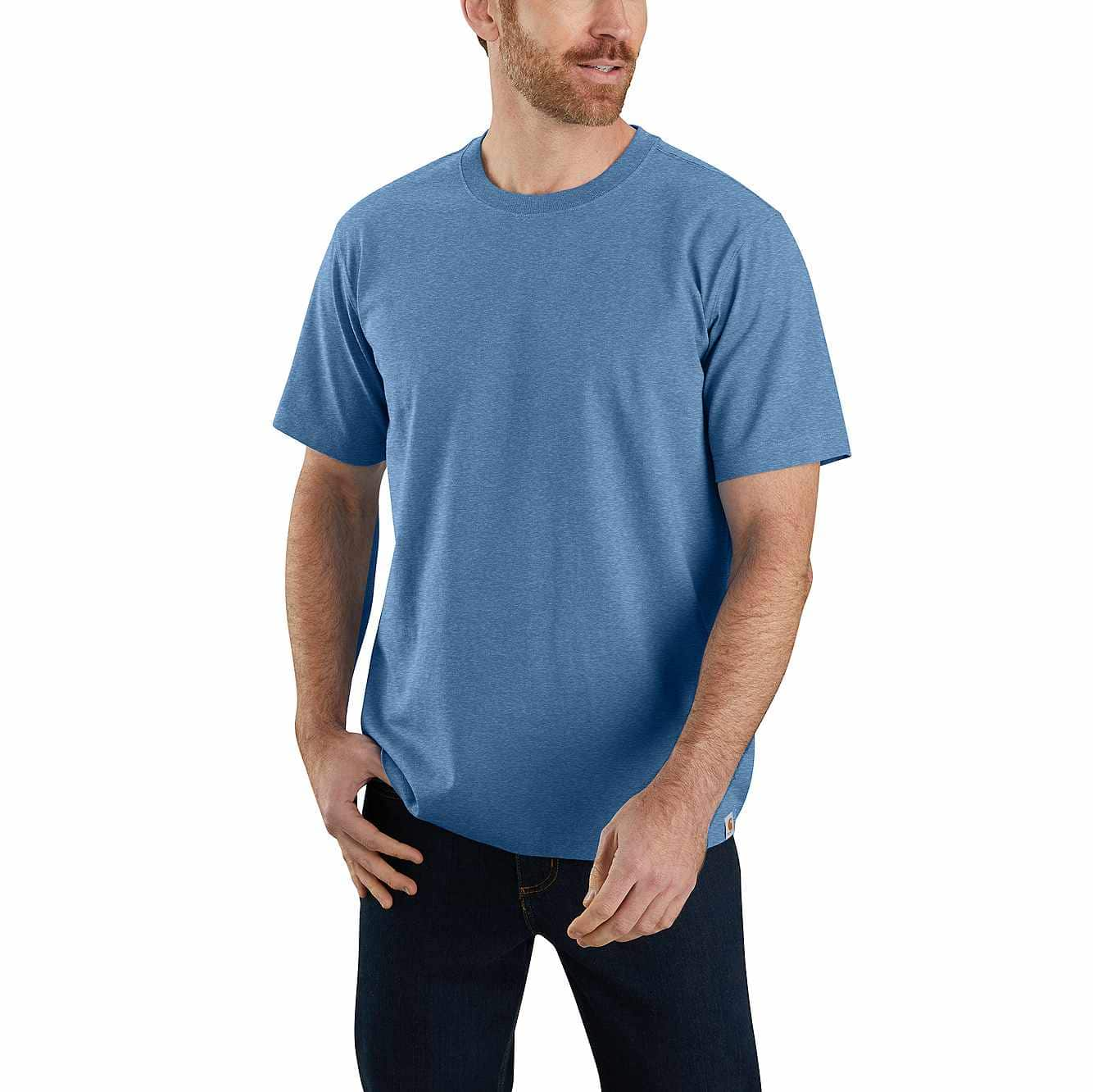 Picture of Relaxed Fit Heavyweight Non-Pocket T-Shirt in Coastal Heather