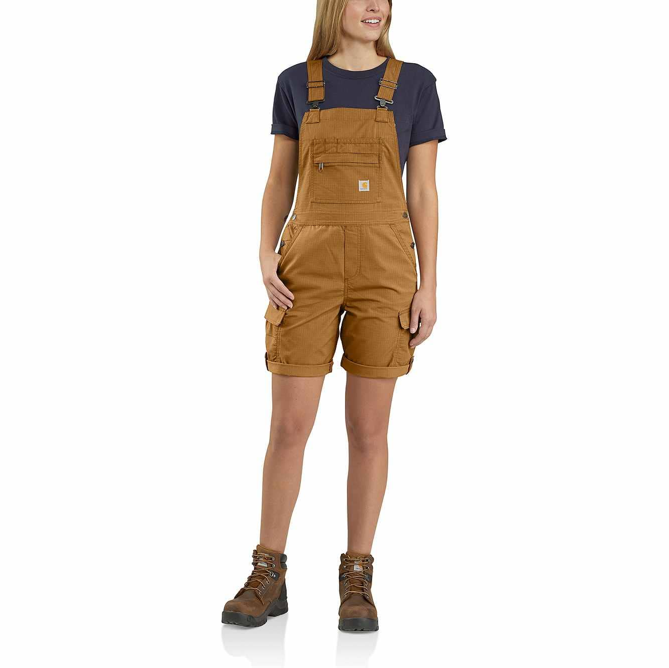 Picture of Carhartt Force® Cargo Shortall in Carhartt Brown