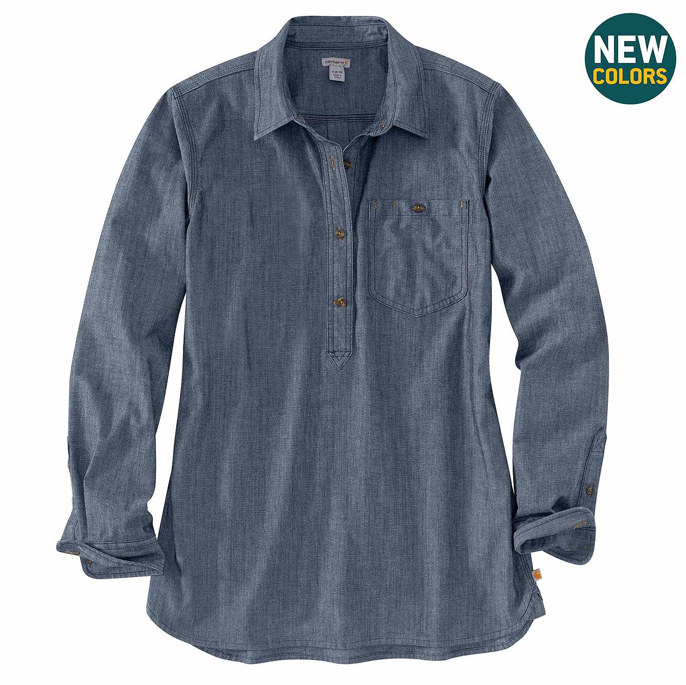 Picture of Rugged Flex® Relaxed Fit Long-Sleeve Shirt in Indigo Chambray