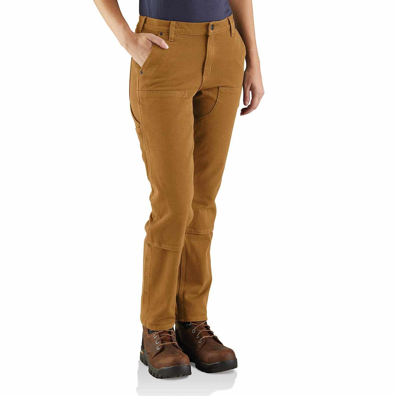Picture of Straight Fit Twill Double Front Pant in Carhartt Brown