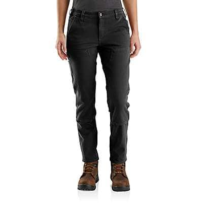 Carhartt Women's Black Rugged Flex® Relaxed Fit Twill Double-Front Work Pant