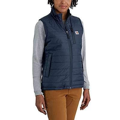 Carhartt Women's Navy Women' Rain Defender® Nylon Insulated Mock-Neck Vest