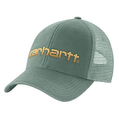 Carhartt Women's Leaf Green Canvas Mesh-Back Logo Graphic Cap