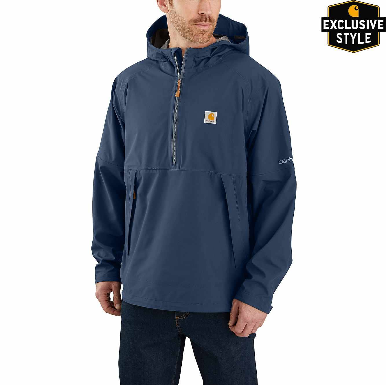 Picture of Storm Defender® Jersey-Lined Hooded Anorak in Dark Blue