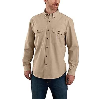 Carhartt Men's Dark Tan Chambray Loose Fit Midweight Chambray Long-Sleeve Shirt