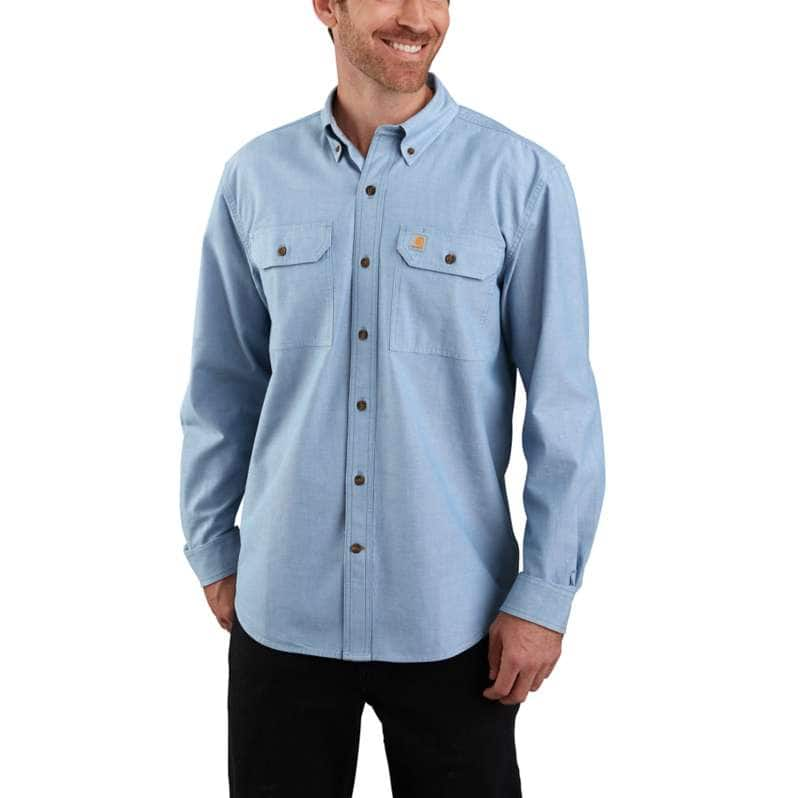 Carhartt  Ceil Blue Loose Fit Midweight Chambray Long-Sleeve Shirt